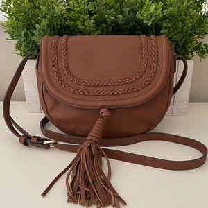 🍂 Vince Camuto Crossbody Flap Tassel Leather